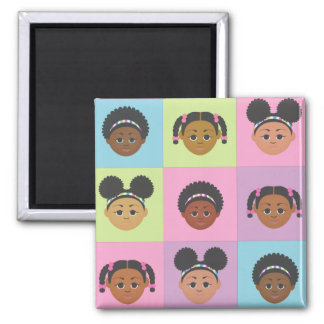 Natural Me Kids by MDillon Designs 2 Inch Square Magnet