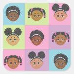 Natural Me Kids by MDillon Designs Square Sticker