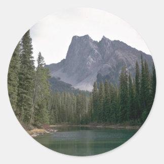 Natural Mirror Round Sticker