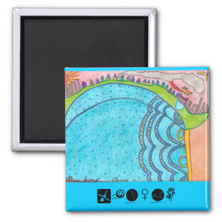 Natural Mountain ( Autism ) 2 Inch Square Magnet