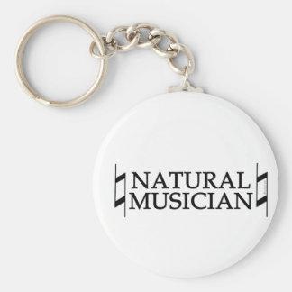 Natural Musician Basic Round Button Keychain