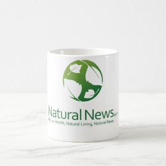 Natural News Logo Coffee Cup (Green) Classic White Coffee Mug