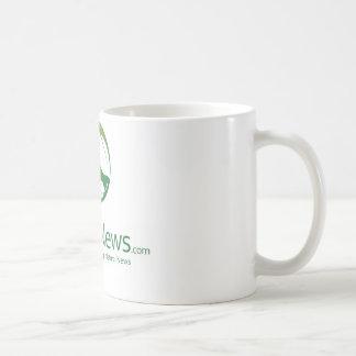 Natural News Logo Coffee Cup (Green) Mugs