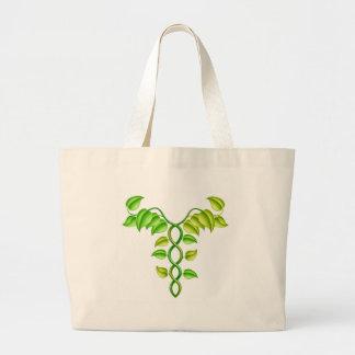 Natural or alternative medicine concept canvas bag