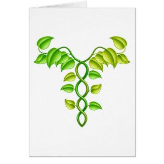 Natural or alternative medicine concept card