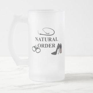 NATURAL ORDER FROSTED GLASS BEER MUG
