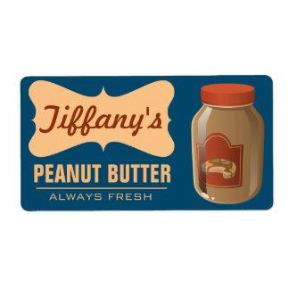 Natural | Organic Peanut Butter | Handmade Butter Label