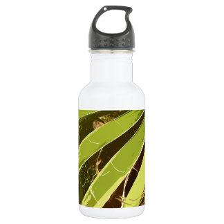 NATURAL PALM STAINLESS STEEL WATER BOTTLE