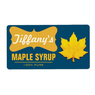 Natural | Pancake Syrup | Organic Maple Syrup Label