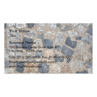 Natural Paving Stones in Black and White Business Card Templates
