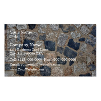 Natural Paving Stones in Black and White Business Cards