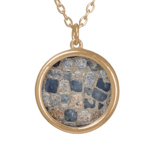Natural Paving Stones in Black and White Pendants