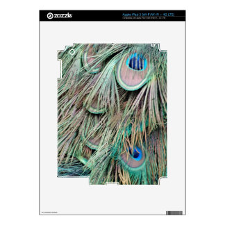 Natural Peacock Eyes Fluffy Feathers Decal For iPad 3