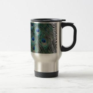 Natural Peacock Feather Eyes Colorful Travel Mug