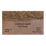 Natural pinestraw mulch business card templates