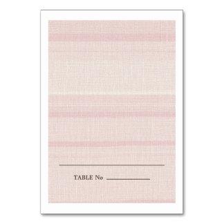 Natural Pink Stripes Escort Wedding Place Cards