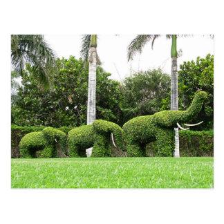 Natural Postcard Green Elephants Garden Sculptures