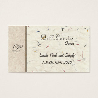 Natural Pressed Paper - Handmade Papers Business Card