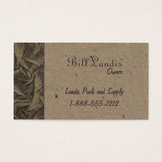 Natural Pressed Paper - Natural Brown Business Card