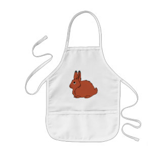 Natural Red Arctic Hare Kids' Apron