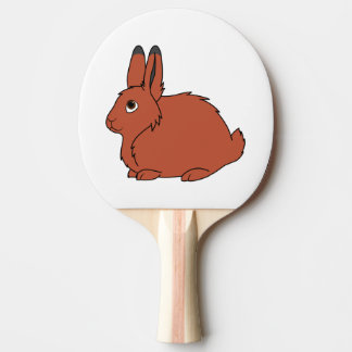 Natural Red Arctic Hare Ping-Pong Paddle