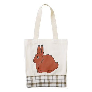 Natural Red Arctic Hare Zazzle HEART Tote Bag