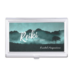 Coach business card holders cases zazzle natural reiki master and yoga mediation instructor business card case colourmoves