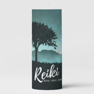 Natural Reiki Master and Yoga Mediation instructor Pillar Candle