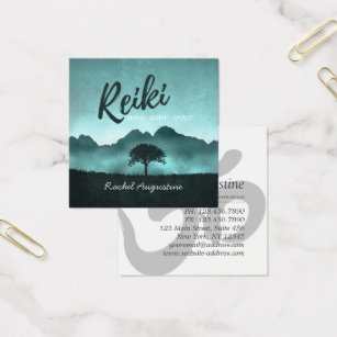 Ayurveda business cards templates zazzle natural reiki master and yoga mediation instructor square business card colourmoves