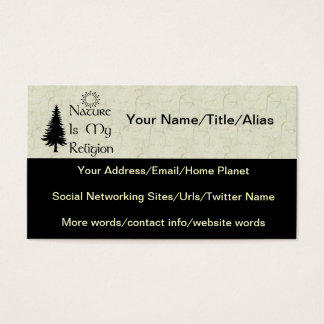 Natural Religion Business Card