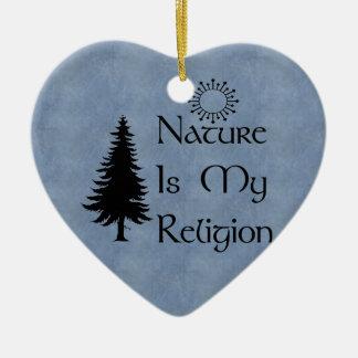 Natural Religion Ceramic Ornament