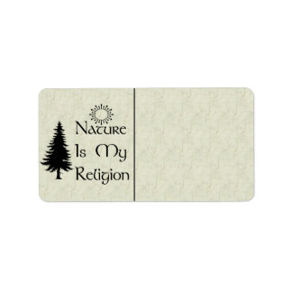 Natural Religion Label