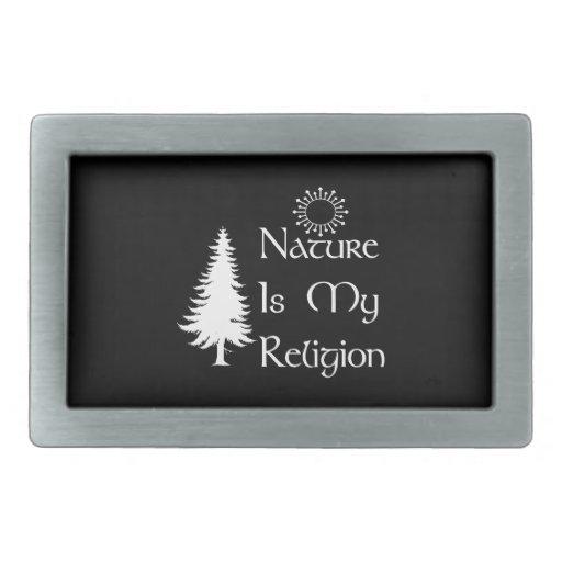Natural Religion Rectangular Belt Buckles
