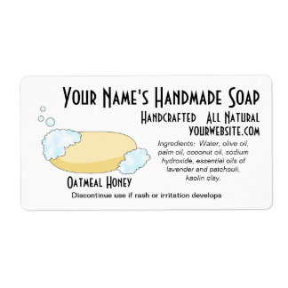 Natural Retro Soap Labels Black and White Template