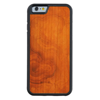 Natural rich wood grain carved cherry iPhone 6 bumper case