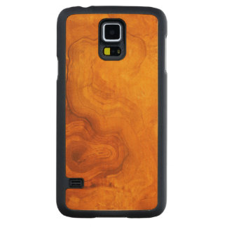 Natural rich wood grain carved maple galaxy s5 slim case