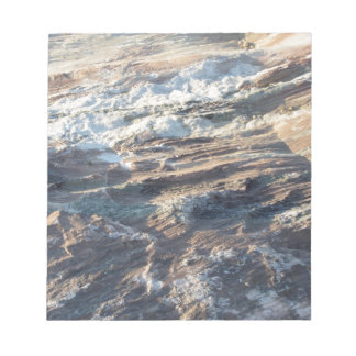 Natural rock texture and surface background notepad