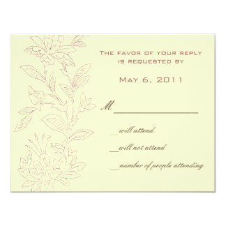 Natural/Rose Save the Date Card