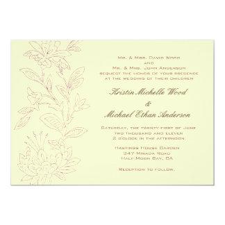 Natural/Rose Wedding Invitation