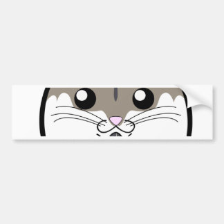 Natural Russian Dwarf Hamster Bumper Stickers