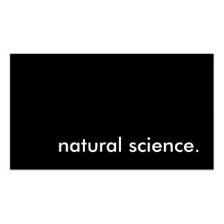 natural science. business card
