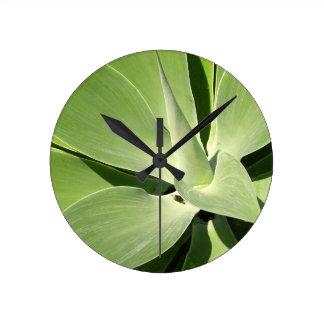 Natural Shades of Green Round Wall Clocks