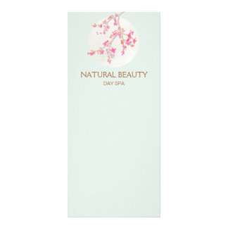 Natural Skincare Beauty Spa Cherry Blossoms Personalized Rack Card