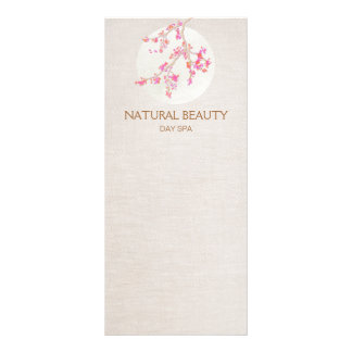 Natural Skincare Beauty Spa Cherry Blossoms Rack Cards