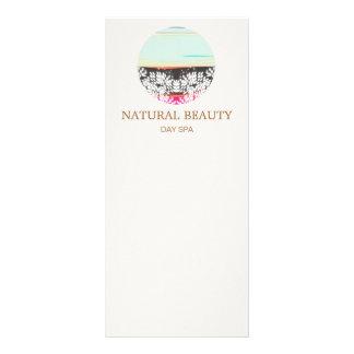 Natural Skincare Beauty Spa Sunrise Logo Custom Rack Card