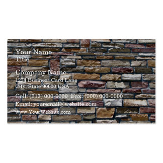Natural Slate Stone Building Wall Business Card Template