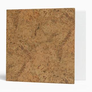 Natural smoke cork bark wood grain look 3 ring binder