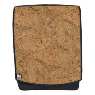 Natural Smoke Cork Bark Wood Grain Look Backpack