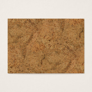 Natural Smoke Cork Bark Wood Grain Look Business Card