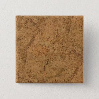 Natural Smoke Cork Bark Wood Grain Look Button